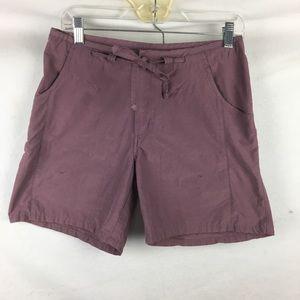 Columbia Plum Purple Drawstring Waist Shorts S